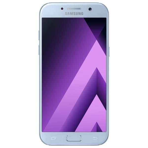 Смартфон Samsung Galaxy A5 (2017) Blue (SM-A520F) чехол для samsung galaxy a5 2017 sm a520f skinbox силиконовая накладка пудра