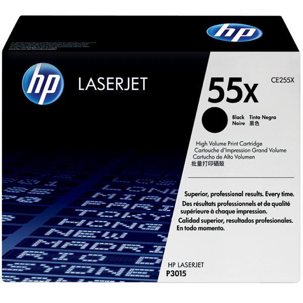 HP, Картридж для лазерного принтера, 55Х Black (CE255X)