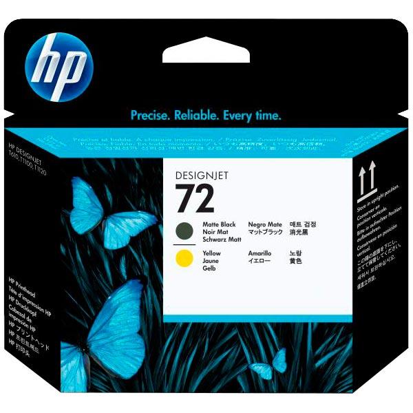 Картридж для струйного принтера HP 72 Matte Black & Yellow (C9384A) картридж hp pigment ink cartridge 72 matte black c9403a