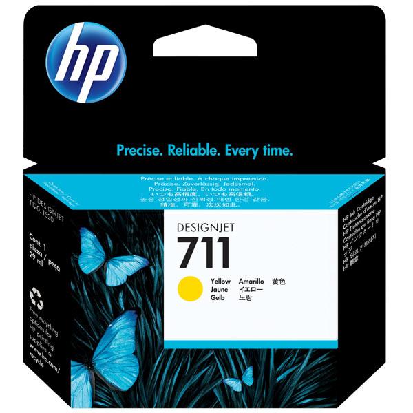 Картридж для струйного принтера HP Designjet 711 Yellow (CZ132A) картридж для принтера hp 90 c5065a yellow
