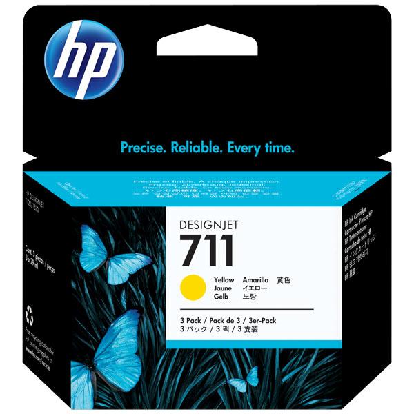 Картридж для струйного принтера HP Designjet 711 Yellow 3 Pack (CZ136A) картридж для принтера hp 11 c4813a yellow