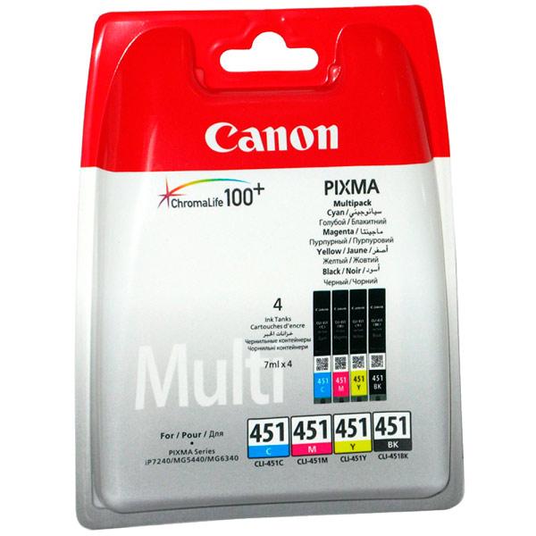 Картридж для струйного принтера Canon CLI-451 C/M/Y/BK набор картриджей canon cli 451 c m y bk