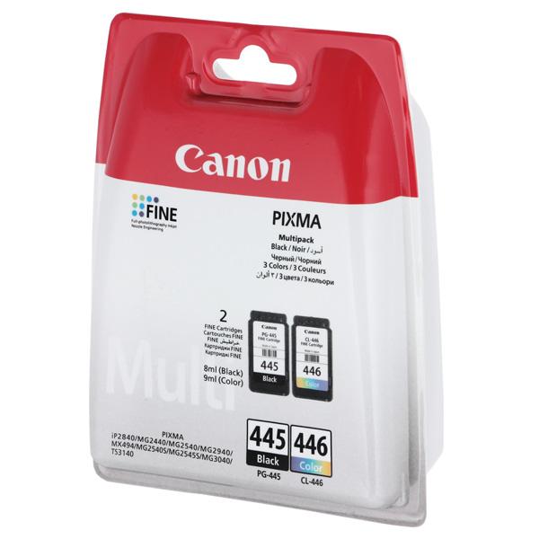 Картридж для струйного принтера Canon PG-445 Black/CL-446 Color цвет 9
