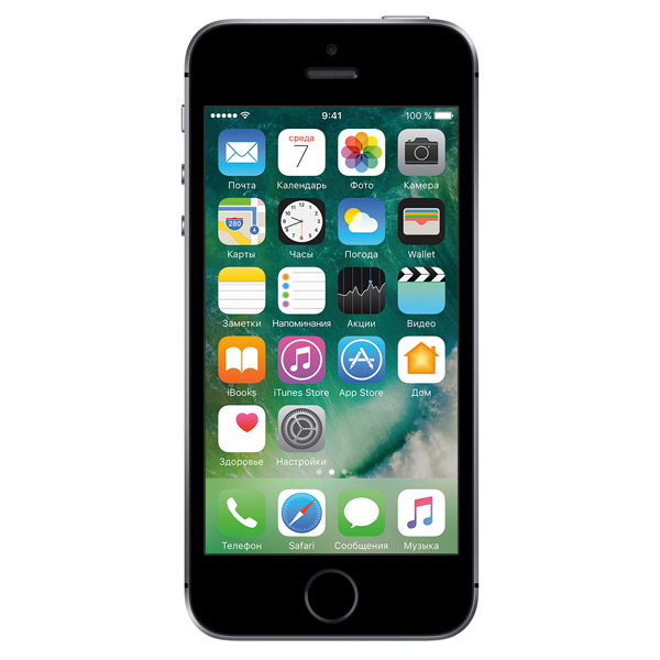 Смартфон Apple iPhone SE 32GB Space Grey (MP822RU/A) смартфон elephone s7 черный 5 5 64 гб lte wi fi gps 3g s7 4gb 64gb black