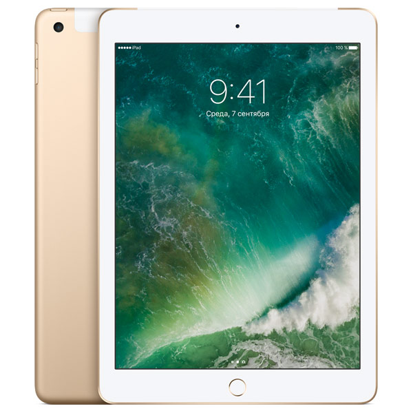 Планшет Apple iPad 128GB Wi-Fi + Cellular Gold (MPG52RU/A)