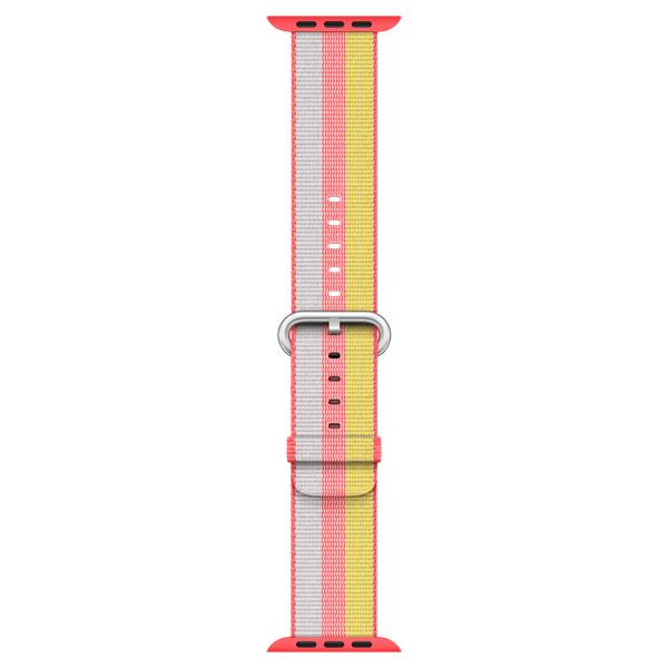 Фото Ремешок Apple 38mm Red Woven Nylon (MPW02ZM/A) часы nixon porter nylon gold white red