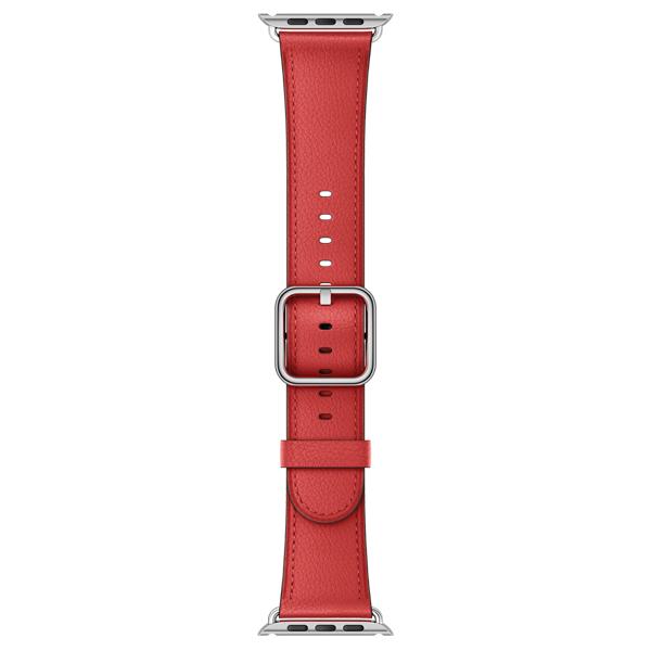 Ремешок Apple 42mm Red Classic Buckle (MPWX2ZM/A) kakapi classic buckle genuine leather wrist band for apple watch 42mm series 1 series 2 black