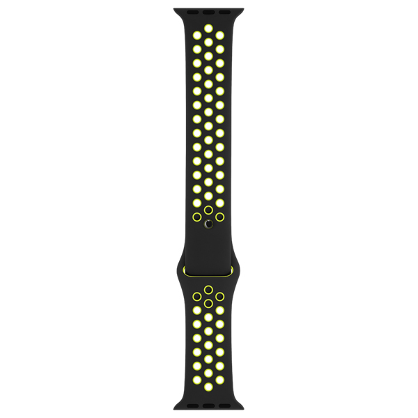 Ремешок Apple 42mm Black/Volt Nike Sport Band S/M & M/L чехол для телефона на руку nike printed lean arm band цвет синий черный