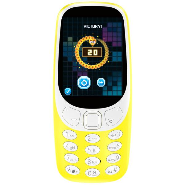 Мобильный телефон Nokia 3310 Yellow карты памяти