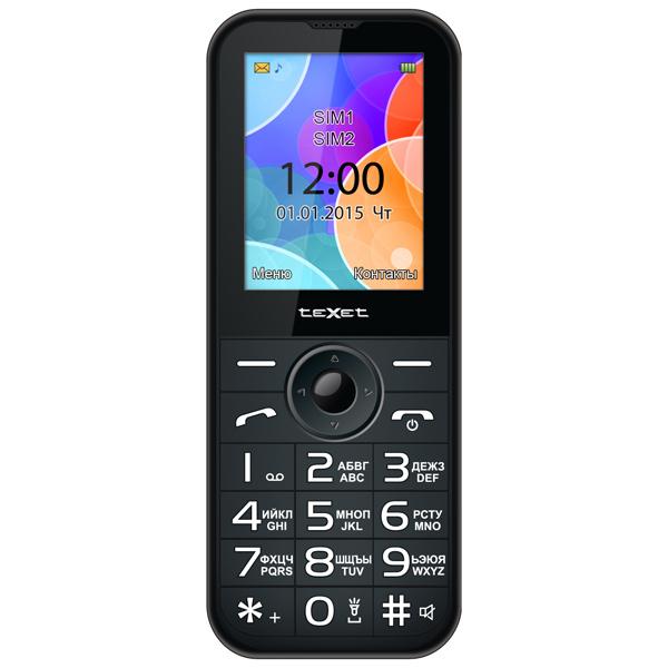 Мобильный телефон teXet TM-B330 антрацит texet tm b330