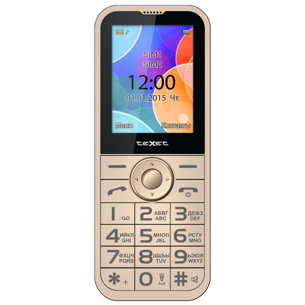 Мобильный телефон teXet TM-B330 бежевый tm chocolatte биотоник для лица аква баланс с пребиотиками 100 мл
