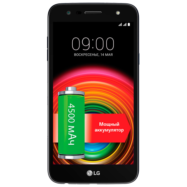 Смартфон LG X Power 2 Black Blue (M320) сотовый телефон lg k220ds x power black