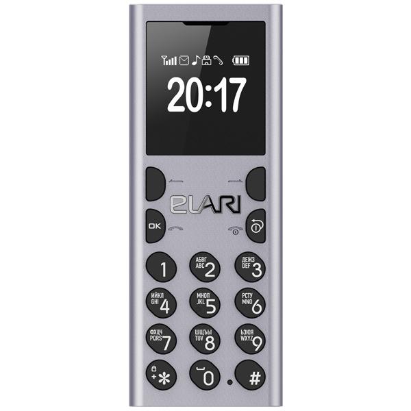 Мобильный телефон Elari NanoPhone С Silver аксессуар чехол elari для elari cardphone и iphone 6 plus blue