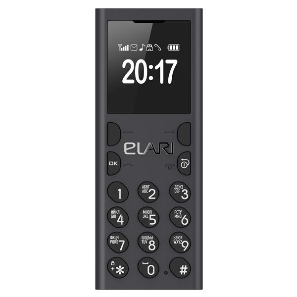 Мобильный телефон Elari NanoPhone С Black аксессуар чехол elari для elari cardphone и iphone 6 plus blue