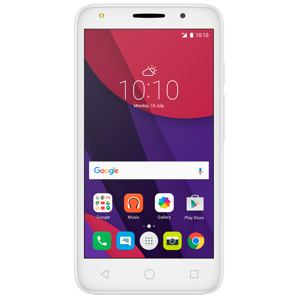 Смартфон Alcatel PIXI 4 DS Full White (5045D) смартфон alcatel idol 5 4g ds metal blackb 6058d