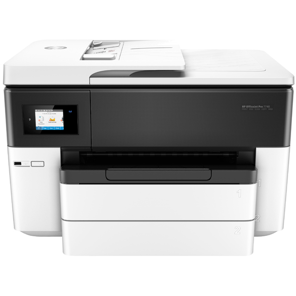 Струйное МФУ HP OfficeJet Pro 7740  Wide Format All-in-One Printe hp officejet pro 8210 принтер струйный d9l63a