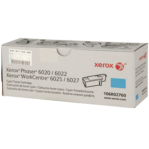 Картридж для лазерного принтера Xerox Cyan Toner Cartridge (106R02760) compatible oem toner chip for xerox docuprint c3290fs color laser printer cartridge refill ct350567 ct350570