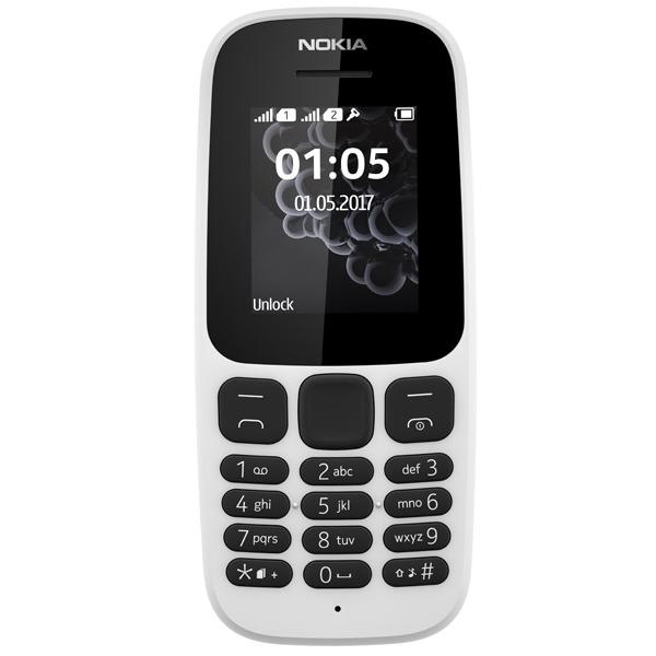 Мобильный телефон Nokia 105 DS White (TA-1034) мобильный телефон nokia 105 ds white 2017 a00028316