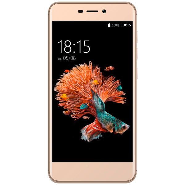 Смартфон BQ mobile Strike Power LTE Gold (BQ-5037) смартфон bq mobile bq 5059 strike power grey matt