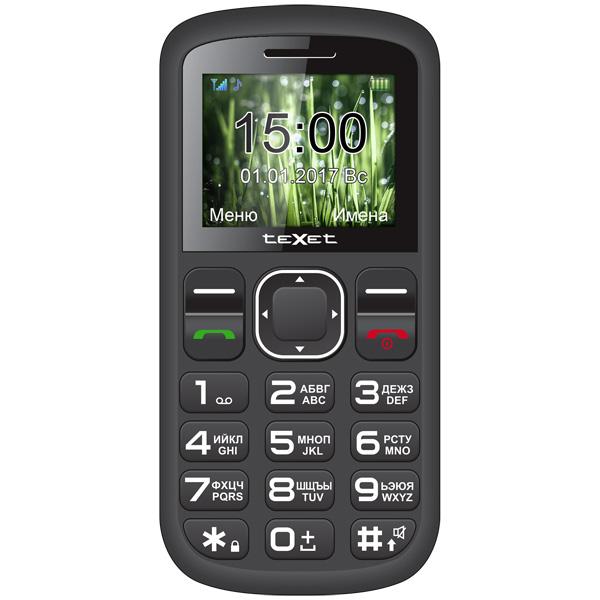 Мобильный телефон teXet TM-B220 Black