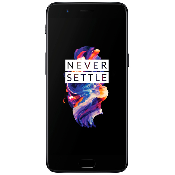 Смартфон OnePlus 5 128Gb+8Gb Midnight Black смартфон bqs 5050 strike selfie grey mediatek mt6580 1 3 8 gb 1 gb 5 1280x720 dualsim 3g bt android 6 0