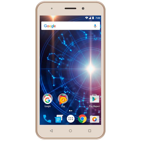 Смартфон Vertex Impress Luck 3G Gold смартфон vertex impress groove gold