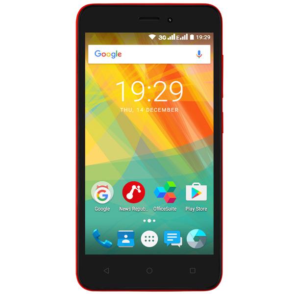 где купить  Смартфон Prestigio Wize G3 Duo Red (PSP3510)  дешево