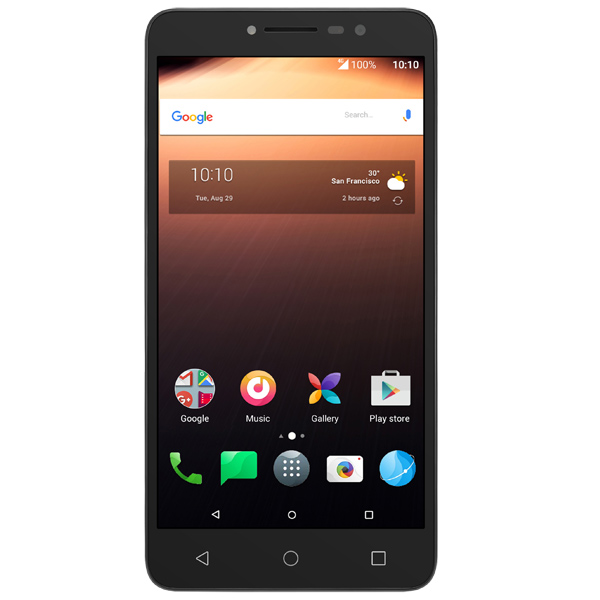 Смартфон Alcatel A3 XL Sideral Gray+Silver/Black TP (9008D) смартфон alcatel u5 3g 4047d white gray