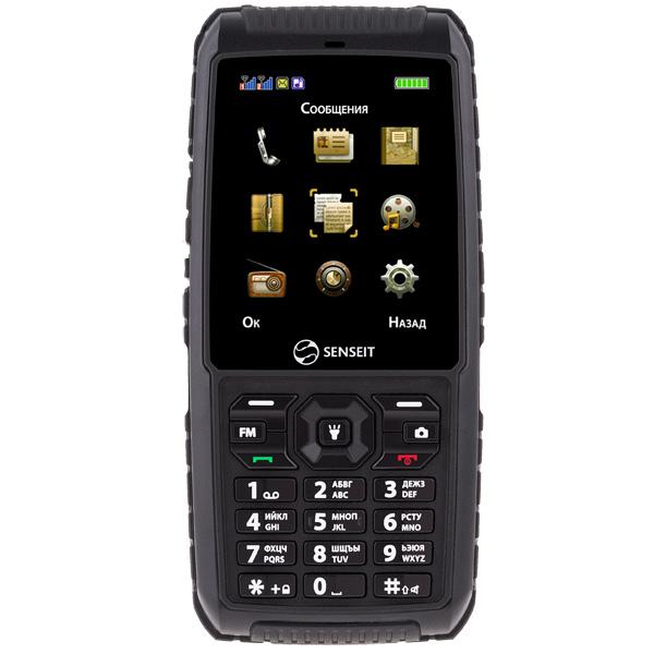 Мобильный телефон Senseit P101 Black мобильный телефон senseit l208 black