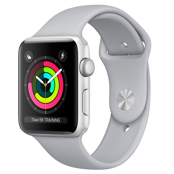 Apple, Смарт-часы, Watch S3 Sport 42mm Silver Al/Fog Band MQL02RU/A
