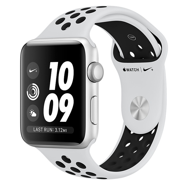 Смарт-часы Apple Watch Nike+ 38mm Silver Al/Bl Nike Band MQKX2RU/A спортинвентарь nike чехол для iphone 6 на руку nike vapor flash arm band 2 0 n rn 50 078 os