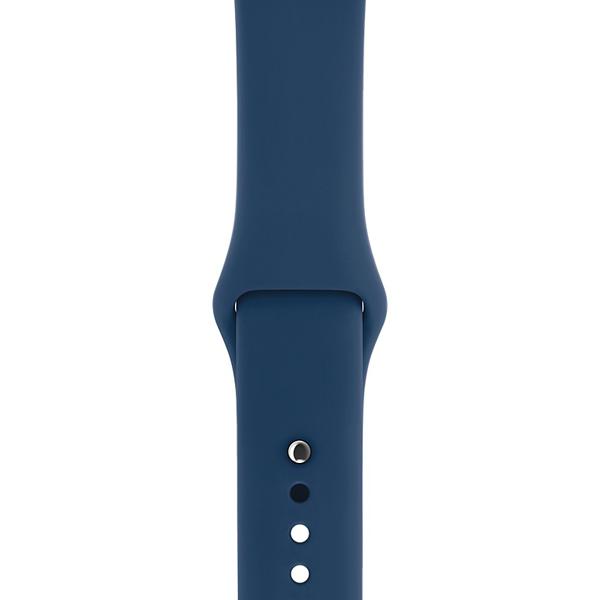 Ремешок Apple 42mm Blue Cobalt Sport Band S/M & M/L (MQUM2ZM/A) ремешок apple 42mm midnight blue sport band s m
