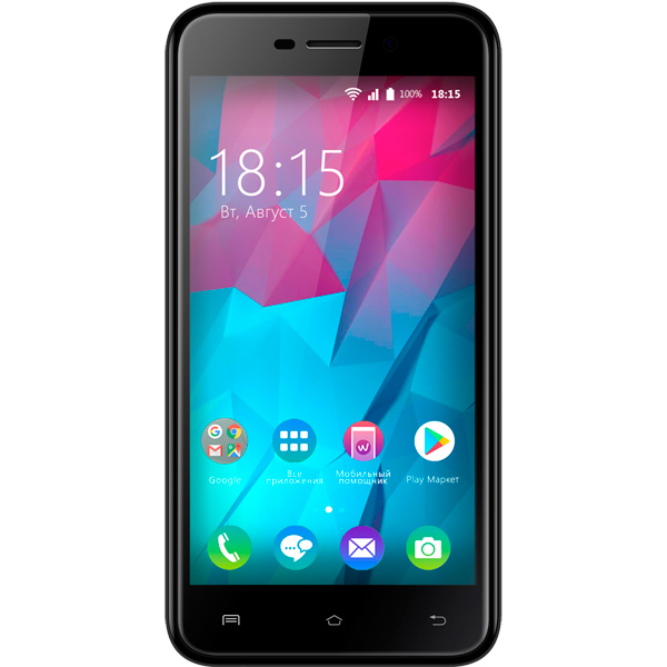 Смартфон BQ mobile Trend Black (BQ-5000L) смартфон bq mobile bq 5000l trend dark blue