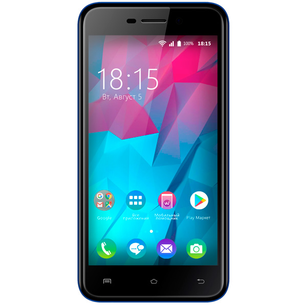 Смартфон BQ mobile Trend Dark Blue (BQ-5000L) смартфон bq mobile bq 5000l trend dark blue