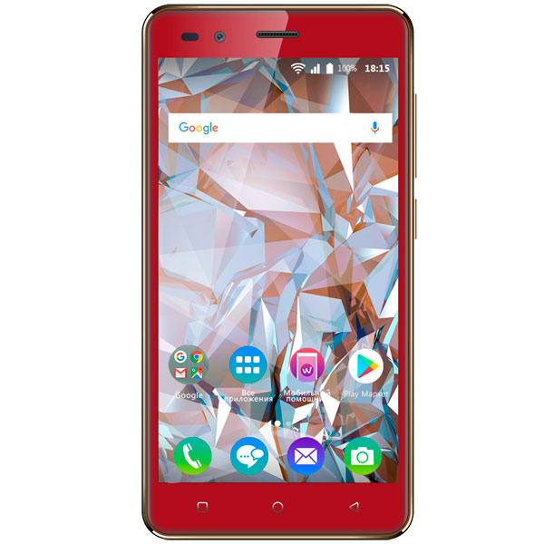 Смартфон BQ mobile Crystal Red (BQ-5054) ноутбук lenovo 320 15iap 80xr0076rk intel celeron n3350 1 1 ghz 4096mb 500gb no odd intel hd graphics wi fi cam 15 6 1366x768 dos