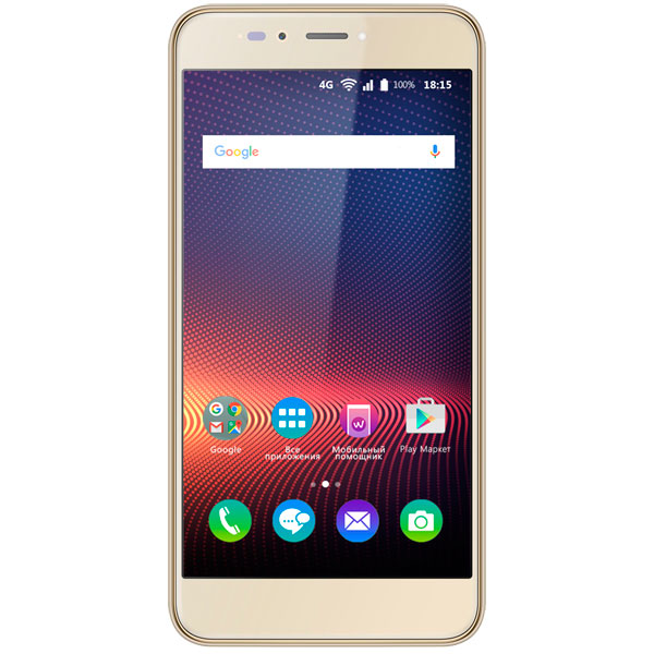 Смартфон BQ mobile Strike Selfie Max Gold Brushed (BQ-5504) смартфон bq mobile 5050 strike selfie pink gold