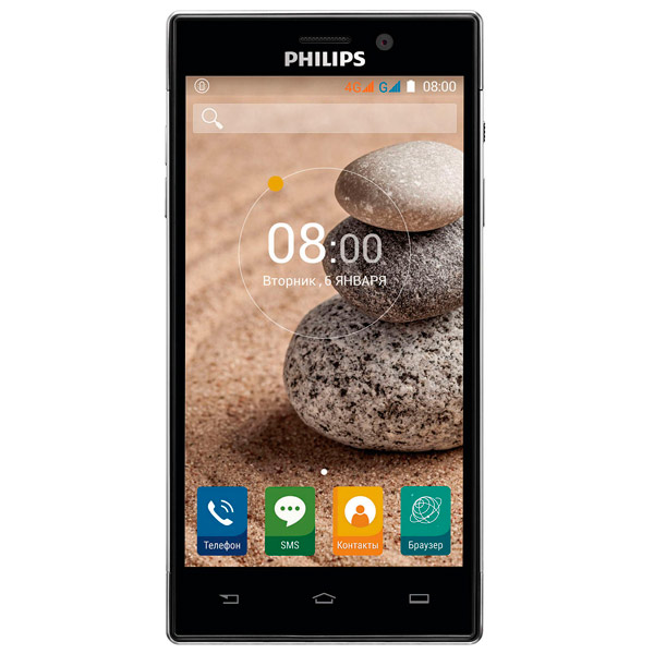 Смартфон Philips Xenium V787 Ebony 3+32GB смартфон philips xenium x818 3 32gb золотой 867000140392