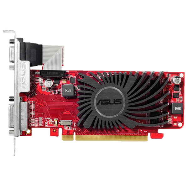 Видеокарта ASUS R5 230 1GB low profile silent видеокарта 1gb