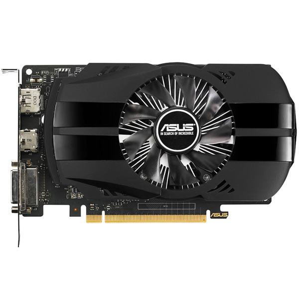 Видеокарта ASUS GeForce GTX 1050 2GB Phoenix Fan Edition asus rog strix geforce gtx 1050 oc 2gb видеокарта
