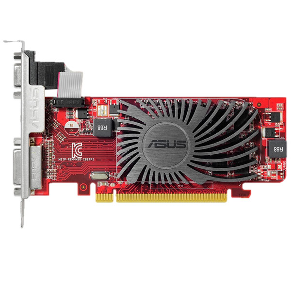 Видеокарта ASUS R5 230 2GB low profile silent материнская плата asus h81m r c si h81 socket 1150 2xddr3 2xsata3 1xpci e16x 2xusb3 0 d sub dvi vga glan matx