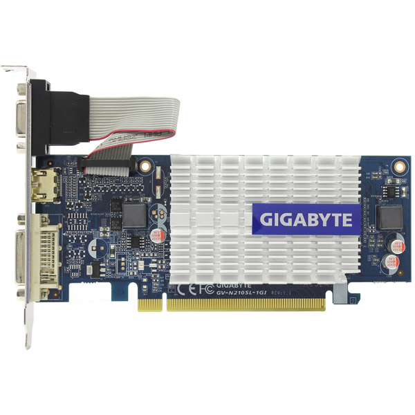 Видеокарта GigaByte GeForce 210 GV-N210SL-1GI GIGABYTE Видеокарта GigaByte GeForce 210 GV-N210SL-1GI видеокарта 6144mb msi geforce gtx 1060 gaming x 6g pci e 192bit gddr5 dvi hdmi dp hdcp retail