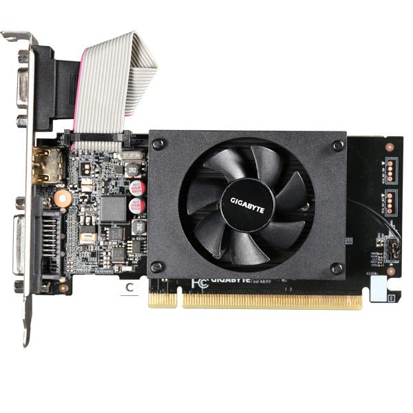 Видеокарта GigaByte GeForce GV-N710D3-2GL GIGABYTE Видеокарта GigaByte GeForce GV-N710D3-2GL видеокарта 2048mb gigabyte gt710 pci e gddr5 64bit hdmi dvi gv n710d5 2gl retail