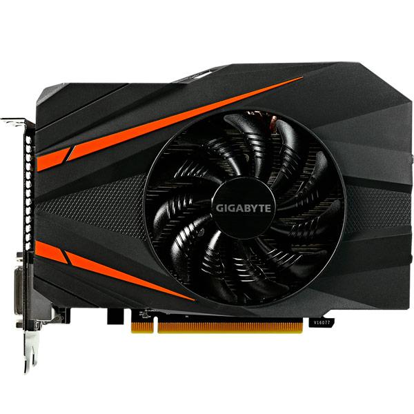 Видеокарта GIGABYTE GeForce GTX 1060 Mini ITX OC 3G видеокарта 6144mb msi geforce gtx 1060 gaming x 6g pci e 192bit gddr5 dvi hdmi dp hdcp retail