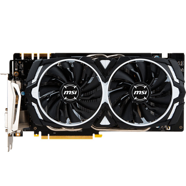 Видеокарта MSI GeForce GTX 1070 ARMOR видеокарта asus geforce gtx 1060 1620mhz pci e 3 0 6144mb 8208mhz 192 bit dvi hdmi hdcp rog strix gtx1060 o6g gaming
