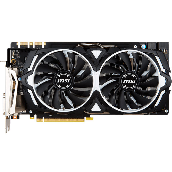 Видеокарта MSI GeForce GTX 1080 ARMOR 8G OC geforce gtx 560 ti 2win