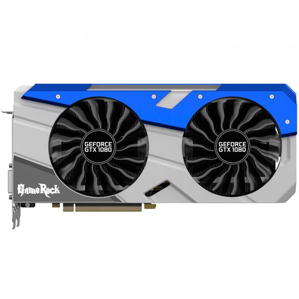 Видеокарта Palit GeForce GTX1080 GAMEROCK PREMIUM видеокарта 6144mb msi geforce gtx 1060 gaming x 6g pci e 192bit gddr5 dvi hdmi dp hdcp retail