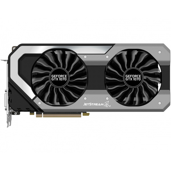 Видеокарта Palit GeForce GTX1070 JETSTREAM видеокарта 6144mb msi geforce gtx 1060 gaming x 6g pci e 192bit gddr5 dvi hdmi dp hdcp retail