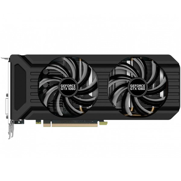 Видеокарта Palit GeForce GTX1060 DUAL 3G видеокарта 6144mb msi geforce gtx 1060 gaming x 6g pci e 192bit gddr5 dvi hdmi dp hdcp retail