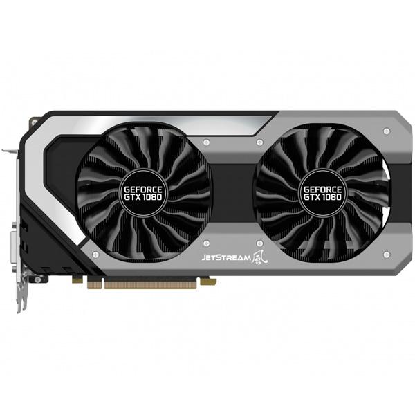 Видеокарта Palit GeForce GTX1080 JETSTREAM видеокарта 6144mb msi geforce gtx 1060 gaming x 6g pci e 192bit gddr5 dvi hdmi dp hdcp retail