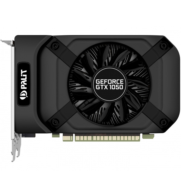 Видеокарта Palit GeForce GTX1050 STORMX 2G видеокарта palit geforce gtx1050 ti dual 4g ne5105t018g1 4096mb 1290mhz nvidia gtx1050 ti gddr5 7000mhz 128 bit pci e dvi dp hdmi
